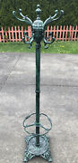 Vintage Berkeley Forge Cast Iron Tall Coat Rack Stand-rare