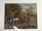 Antique 1908 Hand-cut Wooden Jigsaw Puzzle..354 Pieces The Ford By A. Fox