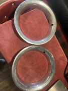 Two 1980 Chevy Truck Rally Wheel Beauty Rings 15x 3 Deep Factory Oem