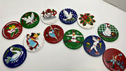12 Days Of Christmas Gift Set Of 12andnbsp- 3 Wooden Circles Craft Ornaments