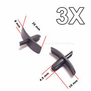 3x Weatherstrip Seal Clips For Door Gaskets, Boot And Bonnet Seals For Volvio