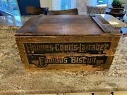 Vintage Wooden Crate Box Fliplid Holmes Coutts Larrabee National Biscuit Co Ny