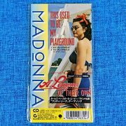 Madonna Sealed This Used To Be My Playground 3and039and039 Cd Japan Longbox 1992 Promo Box
