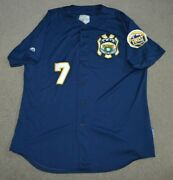 Nypd Finest Game Worn Used Baseball Jersey Majestic Cool Base Nyc Ny Police Dept