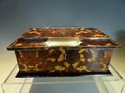 Fine Faux Tortoiseshell Two Division Tea Caddy
