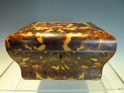 Fine Bombe Shaped Faux Tortoiseshell Two Division Tea Caddy