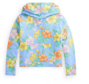 Nwt Polo Big Girls Floral Spa Terry Hoodie Sweater 8-10, Xl 16