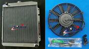For Buick Special Super Roadmaster Chevy L8 Engine 1950-1952 51 Alu Radiator+fan