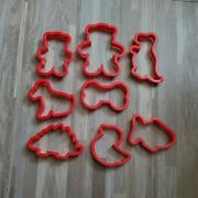 Lot Of 8 Vintage Plastic Cookie Cutters