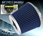 3 Washable High Performance Racing Air Dry Cone Filter For Honda Chrome Blue