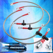 For 94-99 Celica T200 Jdm Front Rear Ss Braided Hose Oil Brake Line Cable Silver