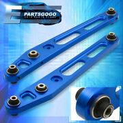 For 96-00 Honda Civic Rear Lower Control Arms Brace Suspension Stability Blue