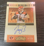 Joe Burrow 2020 Panini Contenders Rookie Of The Year Gold Auto 7/10 Bengals