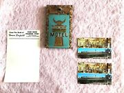 Vtg Pow Wow Trading Post Motel Route 66 Holbrook Az Pen Stand Post Cards History