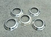 1937 1938 Chevrolet Deluxe Accessory Chrome Wheel Trim Rings Hubcaps Nos Rare