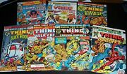 Fnvf Lot/7 Marvel Two In One 3 4 7 10 21 27 51 84 The Thing Bagandboard