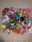 Big Lot 8 Of Assorted Vintage Costume Jewellery Necklace Bracelet Ring Earrings