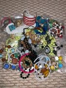 Big Lot 9 Of Assorted Vintage Costume Jewellery Necklace Bracelet Ring Earrings
