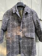 Botany For Youth Kids Wool Tweed Overcoat Youth Grey Measured Removable Liner