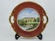Rare Antique Hand Painted Porcelain Serving Plate, Dated September 1868
