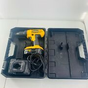 Dewalt Cordless Drill/driver 1/2 Dc759 W/ Battery Dc9098 And Charger Dw9116 Case