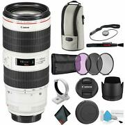 Canon Ef 70-200mm F/2.8l Is Iii Usm Telephoto Zoom Lens For Canon Dslr - Bundle