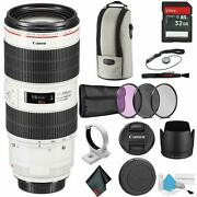 Canon Ef 70-200mm F/2.8l Is Iii Usm Telephoto Zoom Lens - Bundle With 32gb