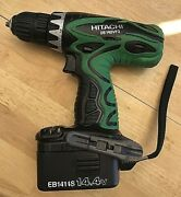 Hitachi Ds 14dmr 14.4v Cordless Drill Driver Tool And Battery Tested