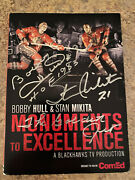 Very Very Rare Hand Signed Mounument Dvd By Both Bobby Hull And Stan Mikita