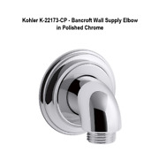 Kohler K-22173-cp - Bancroft Wall Supply Elbow In Polished Chrome