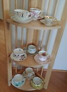 Lot Of 9 Vintage China Tea Cup And Saucer Sets