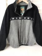 Canyon Guide Outfitters Sz Xl Vintage 90and039s Navajo Aztec Fleece Jacket Usa