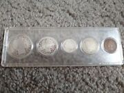 Obsolete Coin Set Of Barber Type Coin Set 5 Coins Really Nice Old Coins 1