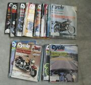 Lot Of 17 Different Vintage 1971 To 1988 Cycle Motorcycle Magazines