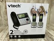 Vtech Cs6649 2 Handsets Corded Cordless Answering Phone Systemdect6.0 Brand New