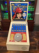 Vintage Working The Gypsy Fortune Teller 25 Cent Coin Operated Machine