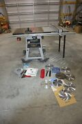 Delta 10 Table Saw Contractors Platinum Edition W/ Biesemeyer Fence And Blades