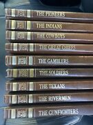 Vintage Time Life Books The Old West Series Lot Of 9 Gunfighters Texans Cowboys