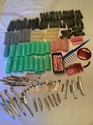 Lot Vintage 1950-60 Hair Rollers Curlers Metal Clips Barrettes Beauty Shop  311