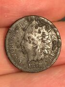 1878 Indian Head Cent Penny- Fine Details