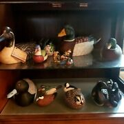 Hand Carved Duck Decoys Entire Collection Some In Photo Are Not Wood