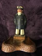 Vintage Syroco Wood Ship Captain Double Pipe Holder