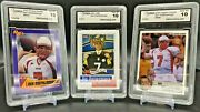 Ben Roethlisberger Gma Gem Mint 10, Lot Of 3 From 2003 And 2004