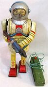 Used Nomura Toy Electric Remote Control Tin Earth Man Tin Space And Sf