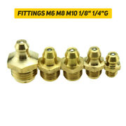 5pcs Brass Grease Nipple Oil Mouth Grease Nipple Butter Gun Fittings M6 M8 M10