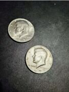 1974 Kennedy Half Dollars. 1-d 1 No Mint Mark. Both Are In Nice Condition
