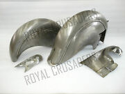 New Indian Chief Front And Rear Raw Mudguard Set With Chain Guard Post War Model