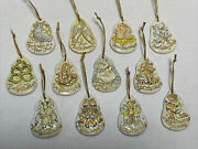 Accents Unlimited 12 Days Of Christmas Ornaments Painted Full Set 1978