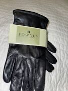 Fownes Mens Black Leather Gloves Lined New With Tags Great Winter Or Driving Lg
