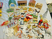 Farm Horse Play Set With Buildings Numerous Animals Tractors Toy Vintage